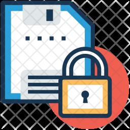 Secure floppy Icon