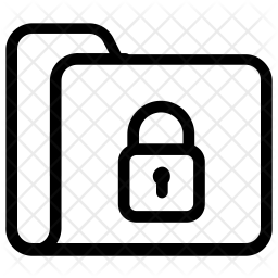 Secure folder Line Icon