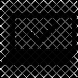 Secure Laptop Glyph Icon