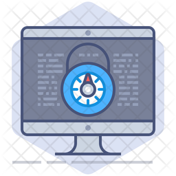 Secure License Colored Outline Icon
