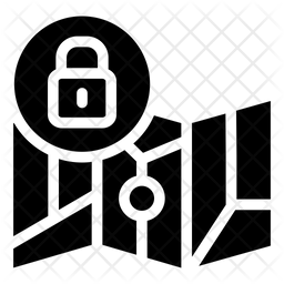 Secure Location Glyph Icon