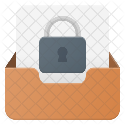 Secure Mail Flat Icon