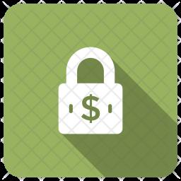 Secure Money Glyph Icon