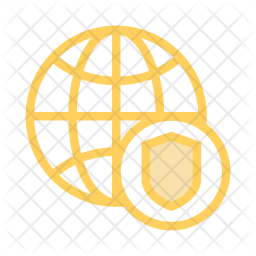 Secure network Colored Outline Icon