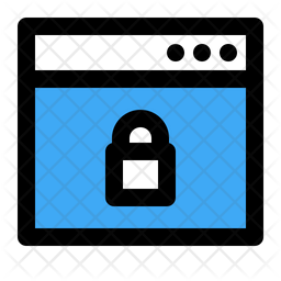 Secure Page Colored Outline Icon
