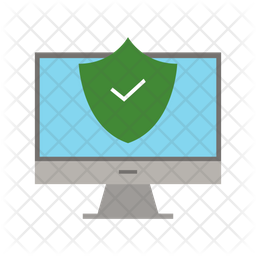 Secure pc Flat Icon