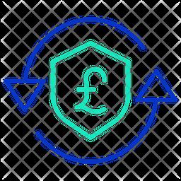 Secure Pound Transaction Icon