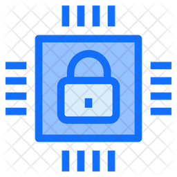 Secure Processor Chip Icon