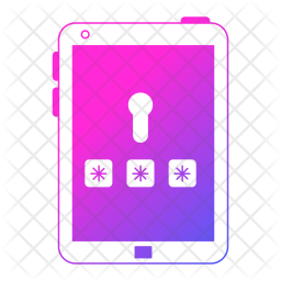 Secure Tablet Icon Of Colored Outline Style Available In Svg Png Eps Ai Icon Fonts