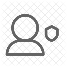 Secure user Line Icon