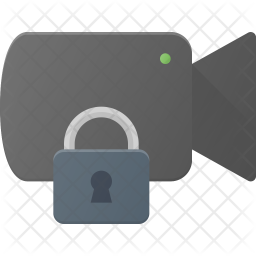 Secure video Flat Icon
