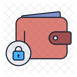 Secure wallet Colored Outline Icon