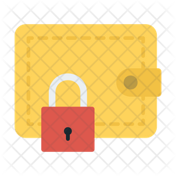 Secure Wallet Flat Icon