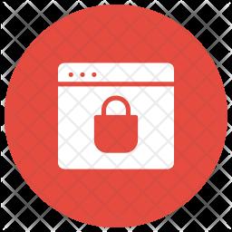 Secure Webpage Glyph Icon