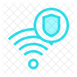 Secure Wifi Colored Outline Icon