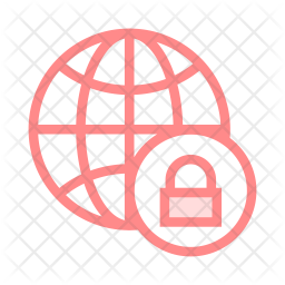 Secure world Colored Outline Icon