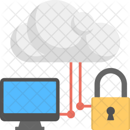 Secured Cloud Computing Icon