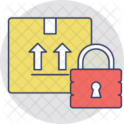 Secured Package Colored Outline Icon
