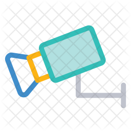 Security camera Colored Outline Icon