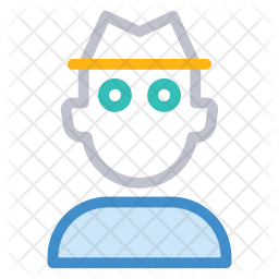 Security guard Colored Outline Icon
