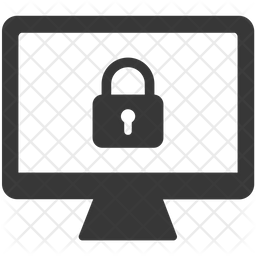 Security lock Glyph Icon