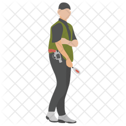 Security Officer Flat Icon