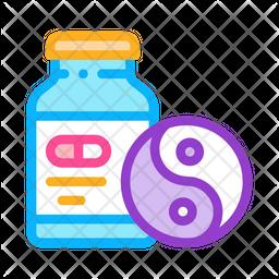 Sedative Pills Colored Outline Icon