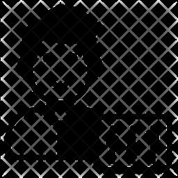 Self Discipline Glyph Icon