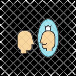 Self Colored Outline Icon