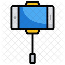 Selfie Stick Colored Outline Icon