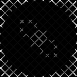 Send Back Glyph Icon