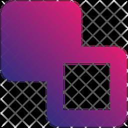 Send Backward Gradient Icon