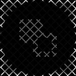 Send Backward Glyph Icon