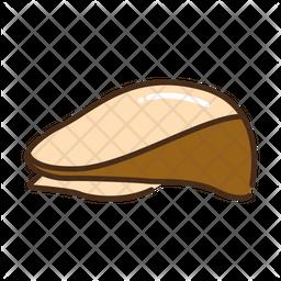 Senior hat Colored Outline Icon