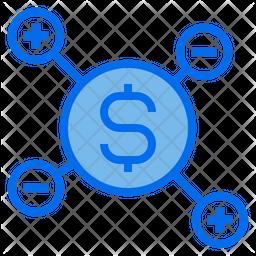 Seo Cost Colored Outline Icon