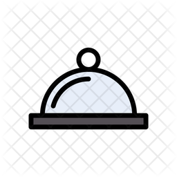 Served Food Colored Outline Icon