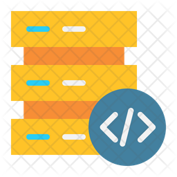 Server Coding Flat Icon