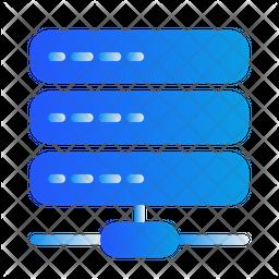 Server Connection Gradient Icon