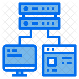 Server Connection Dualtone Icon
