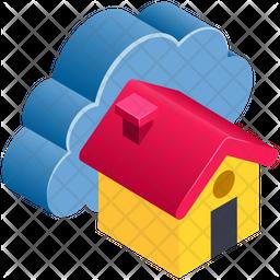Server House Isometric Icon