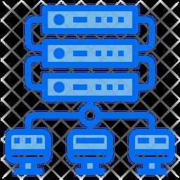 Server Network Dualtone Icon