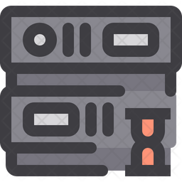 Server Time Colored Outline Icon