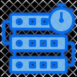 Server Timer Dualtone Icon