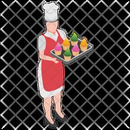 Serving Ice-cream Icon