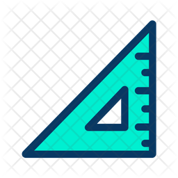 Set Square Colored Outline Icon