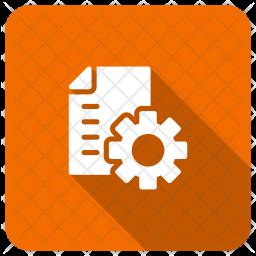 Setting File Glyph Icon