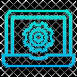 Settings Laptop Icon