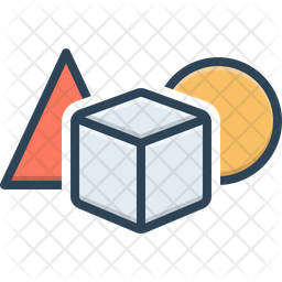Shape Colored Outline Icon