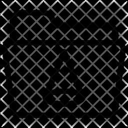 Shape folder Line Icon