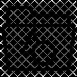 Shapes folder Line Icon